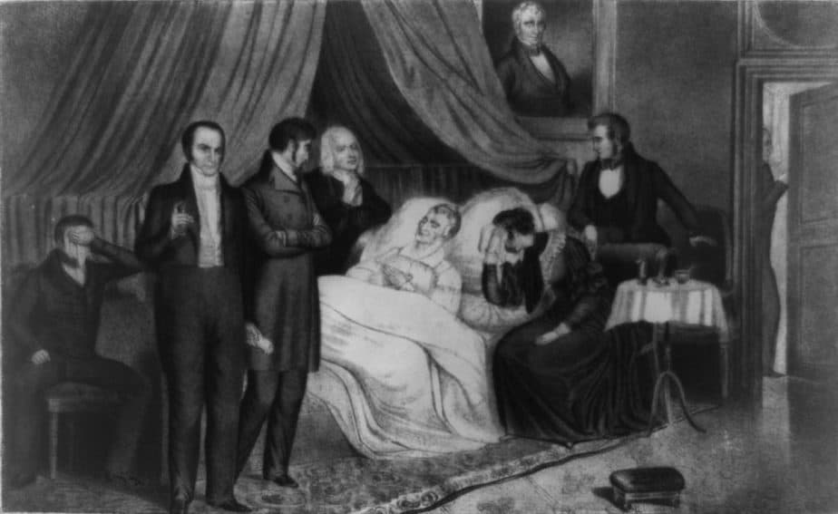The death of Henry Harrison in 1841
