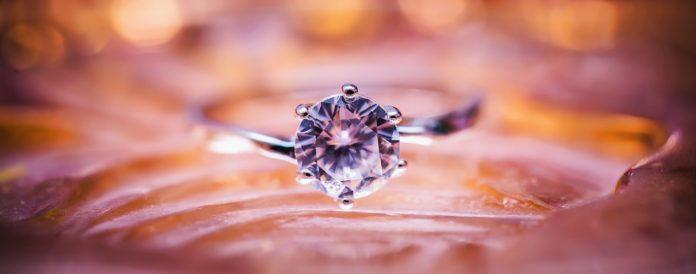 A memorial diamond on a ring