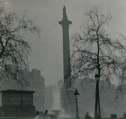 Nelson's Column during the Great Smog of London in 1952