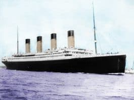 A Colorized Picture of the Titanic