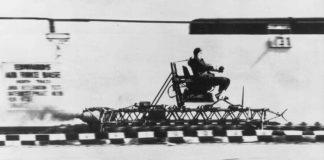 John Paul Stapp during his speed test