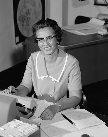 Katherine Johnson at NASA working as a physicist in 1966