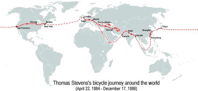 Thomas Stevens's bicycle journey around the world