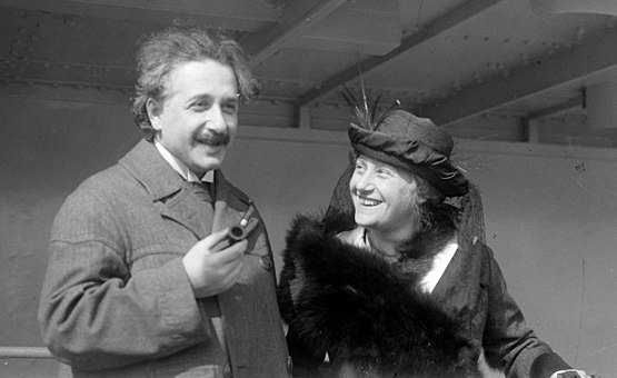 Einstein together with his second wife  Elsa Löwenthal in 1921.