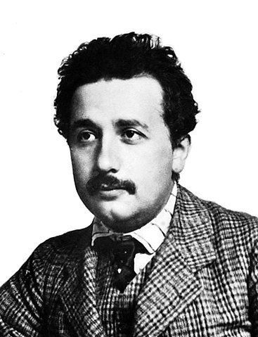 Picture of Albert Einstein at age 25 in 1904.