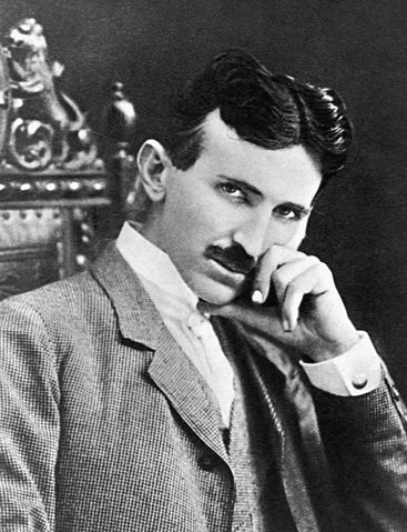Picture of Nikola Tesla at age 40.
