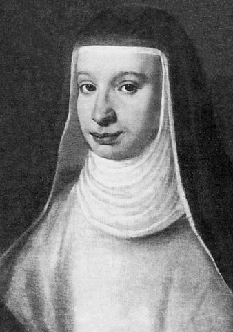 Portrait of Galileo's first daughter  Maria Celeste.