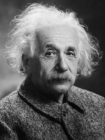 Portrait of Einstein in 1947.