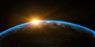 Sunrise as main cover for our space facts article