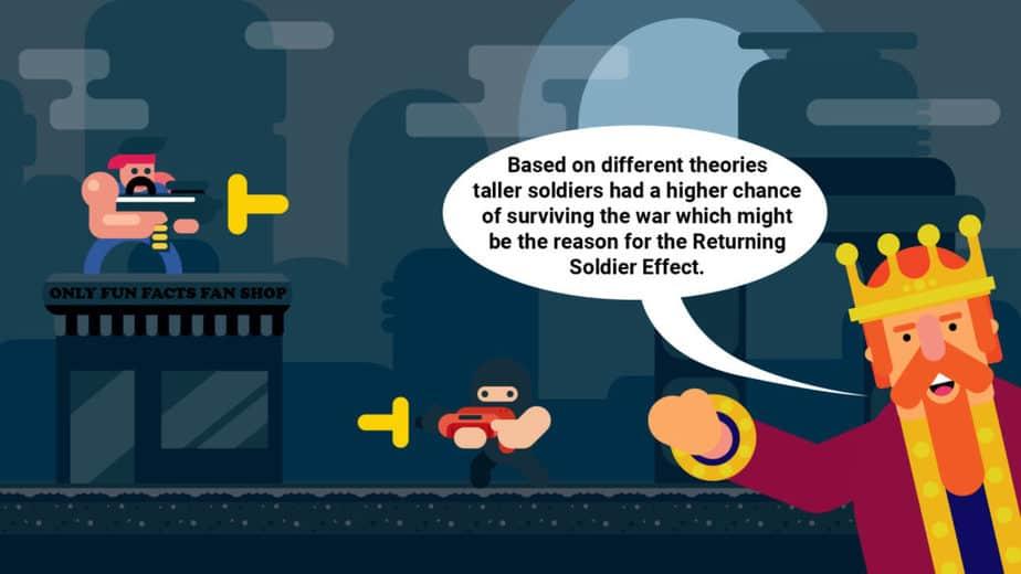 returning soldier effect explanation for taller men