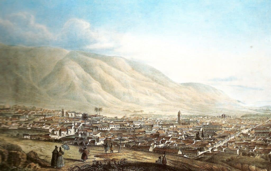 Picture of Caracas in 1839